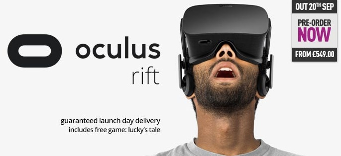 The Oculus Rift will hit UK retail shelves on September 20th