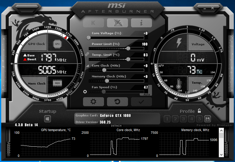 MSI afterburner 4 3 0 Beta 14 includes DirectX 12 overlay support