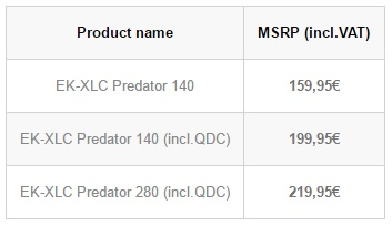 EK's XLC Predator 140 and 280 AIOs are now available for Pre-order
