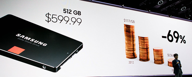 Samsung expects 512GB SSDs to cost the same as a 1TB HDD in 2020