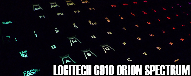 Logitech G910 Orion Spectrum Review | Software and ARX