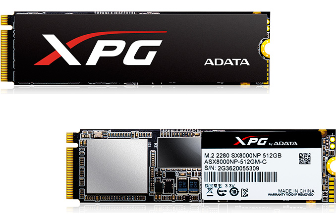 Adata announce their new XPG SX8000 series of NVMe SSDs