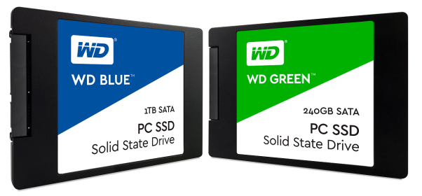 Western Digital re-enters the SSD market with WD Blue and Green series SSDs