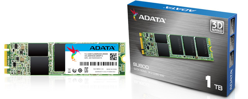 ADATA launches their new SU800 series of 3D NAND powered m.2 SSDs