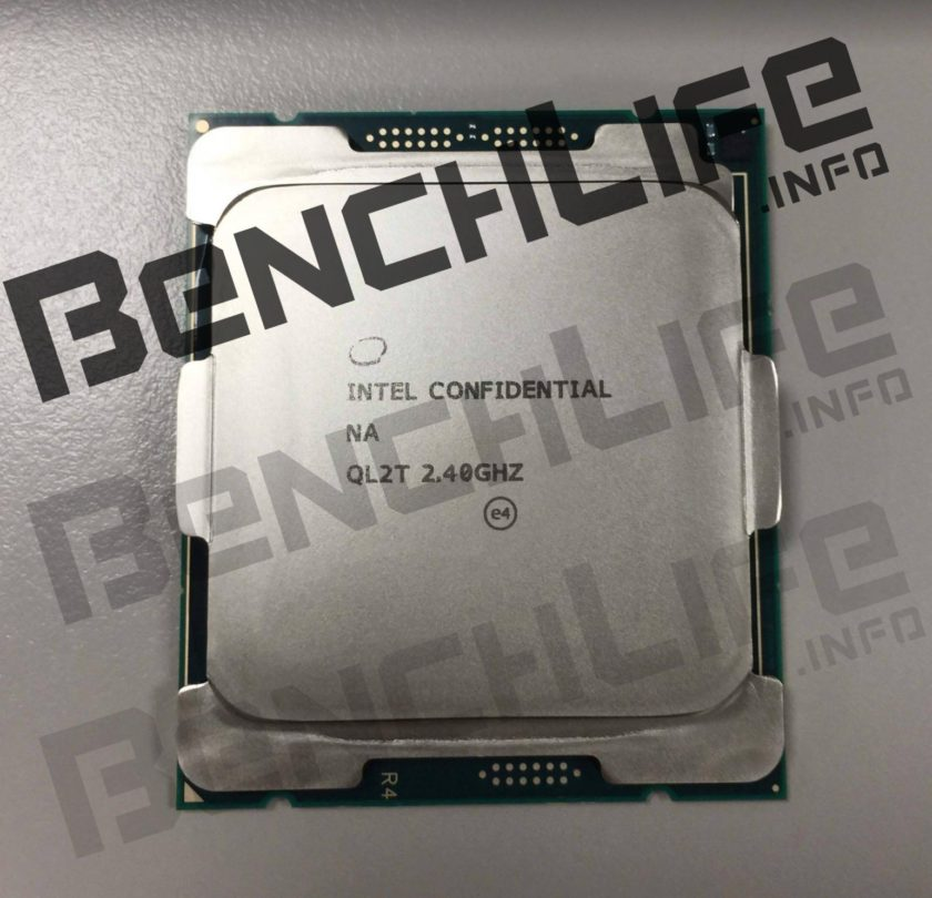 An Intel Skylake-X series CPU has been pictured