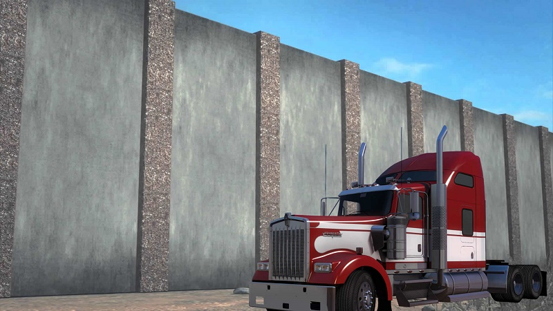 Border Wall appears in American Truck Simulator