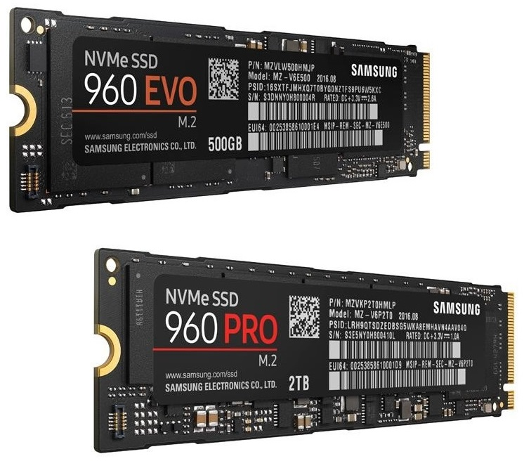Samsung's 960 Pro and 960 Evo are now available to Pre-Order