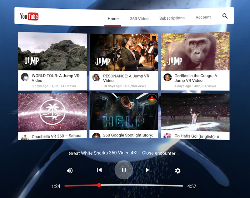 Google has released their YouTube VR app