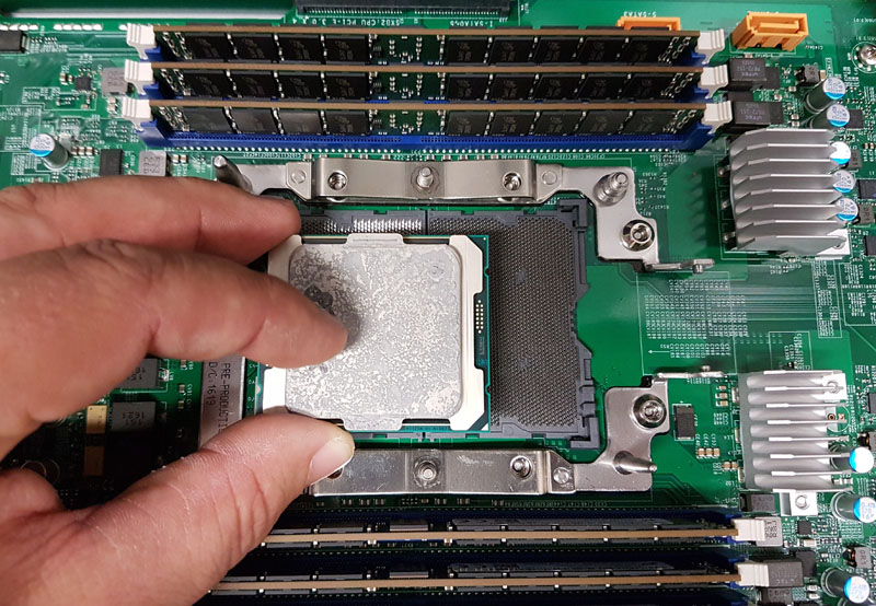 Skylake-EP CPU pictured