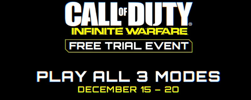Call of Duty Infinite Warfare will be playable for free between Dec 15th and 20th