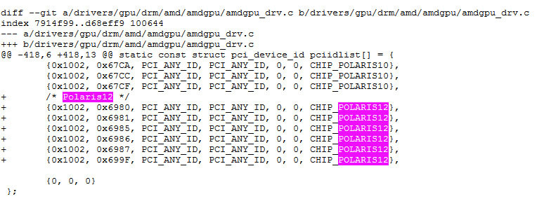 AMD publishes Linux Driver with Polaris 12 support