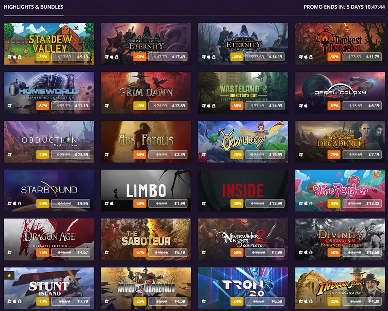 The GOG Winter Sale has now started