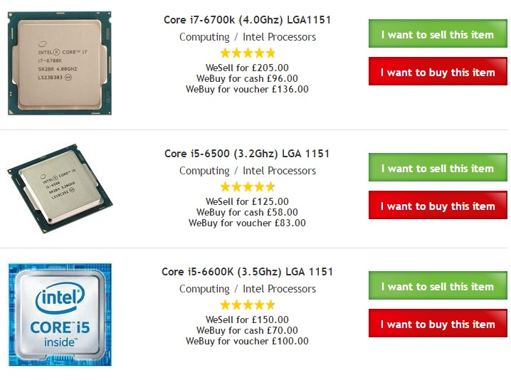 CeX - The joys of the second hand CPU market
