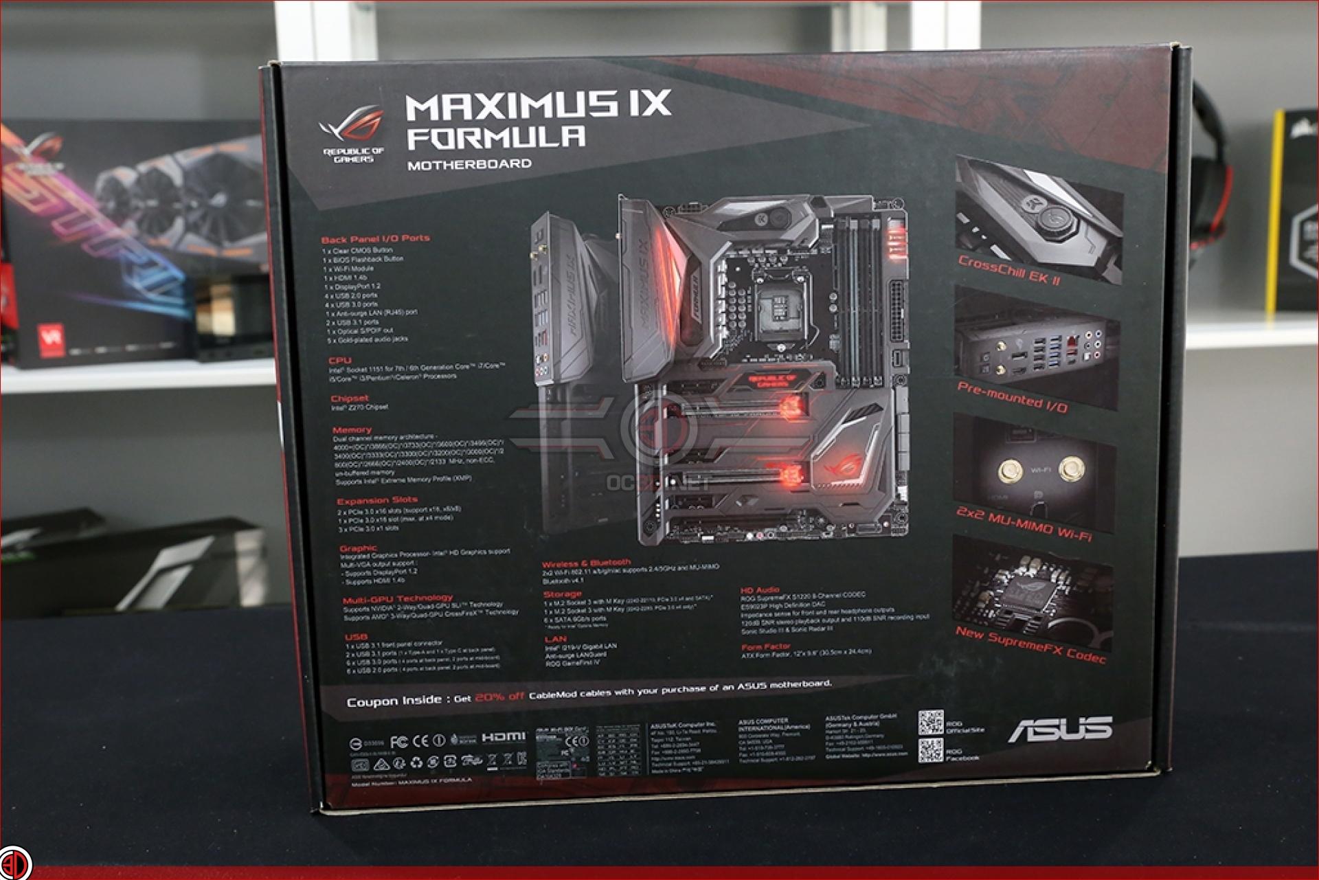 ASUS ROG Z270 Maximus IX Code and Formula Review & Comparison | Maximus IX Formula | CPU ...