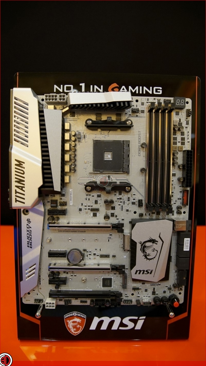 MSI AM4 B350 Tomahawk and X370 XPOWER Gaming Titanium shown at CES