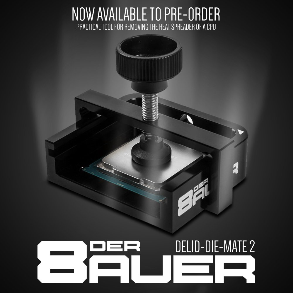 der8auer's Delid-Die-Mate is now available to Pre-order at Overclockers UK