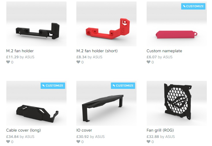 ASUS team up with Shapeways to make 3D printed accessories to everyone