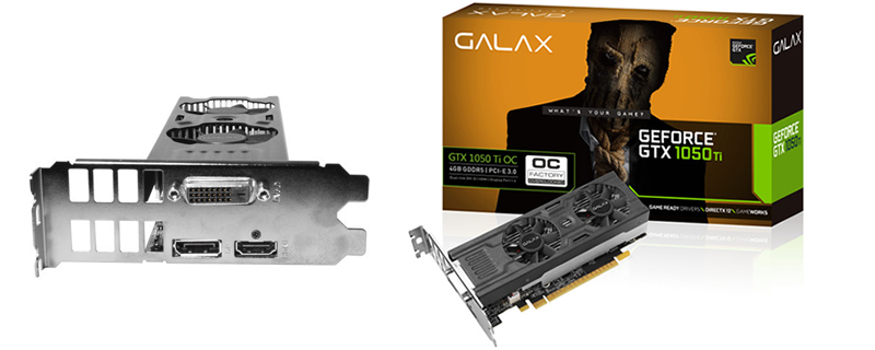 Galax announce their Low Profile GTX 1050 OC and GTX 1050 Ti OC