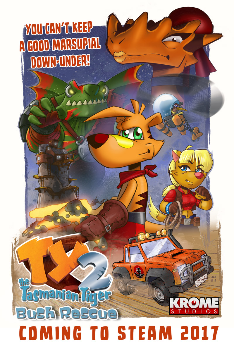 TY the Tasmanian Tiger 2: Bush Rescue is coming to Steam