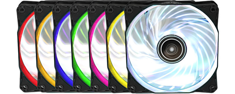 Antec announce their new Rainbow series of 120mm RGB fans