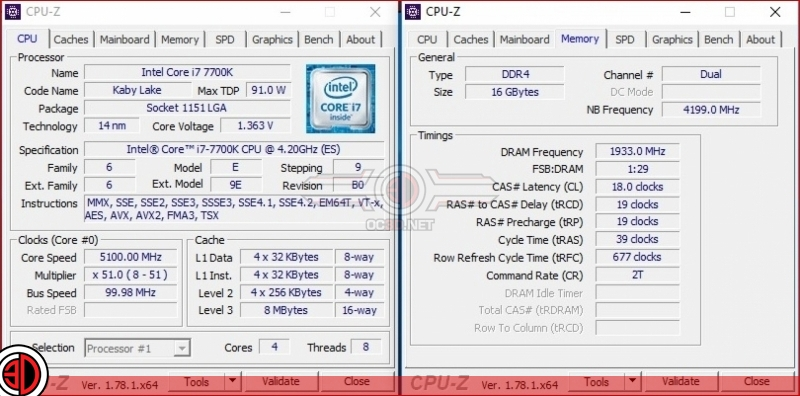 MSI Z270 Gaming M7 Overclocking