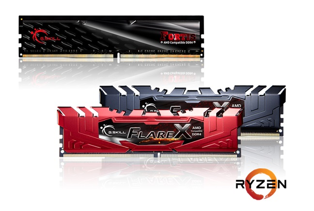 G.Skill announce their new Flare X and FORTIS series of Ryzen ready DDR4 memory kits