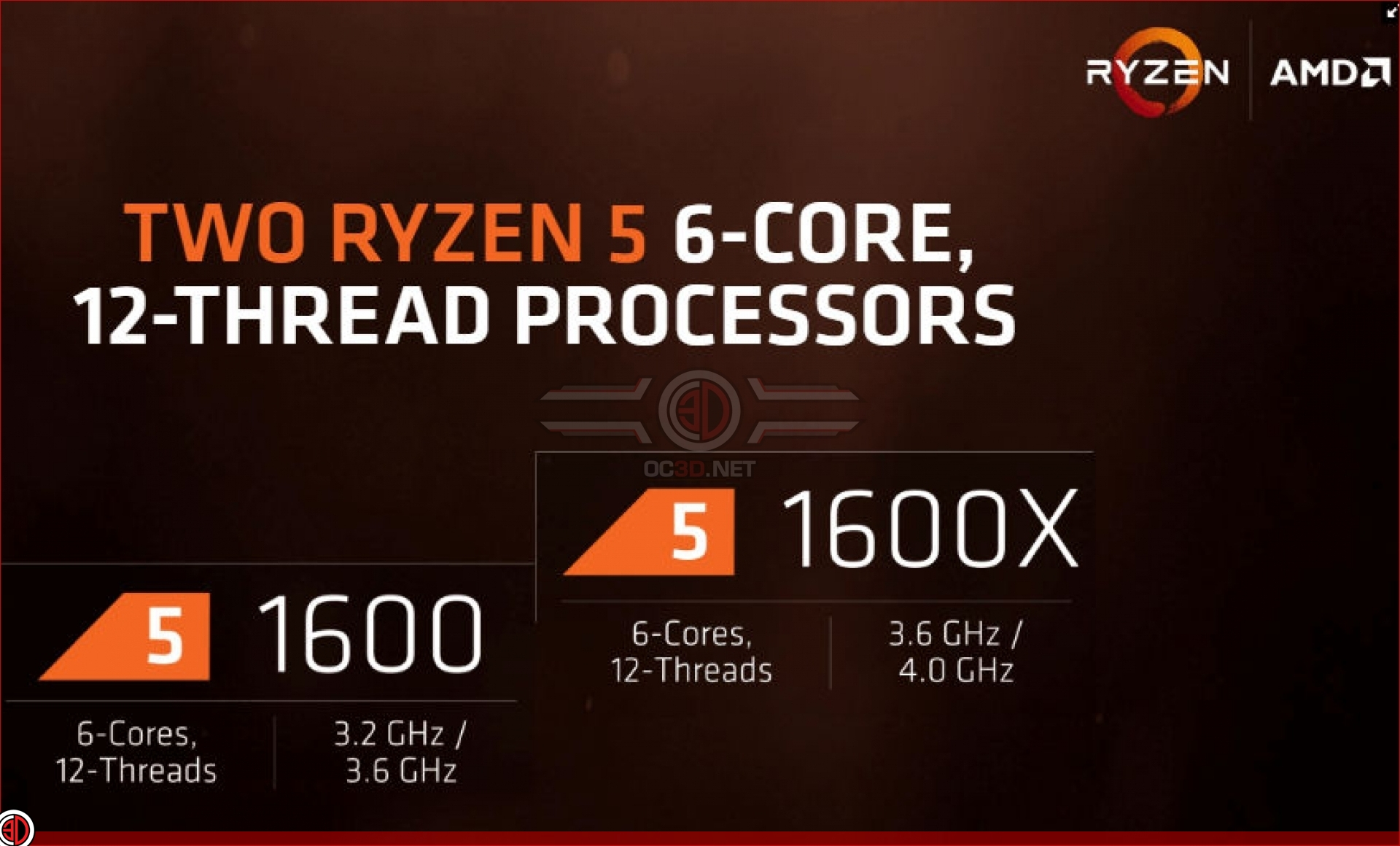 Amds Ryzen 5 Series Of Cpus Will Release On April 11th Oc3d News Amd R5 1500x