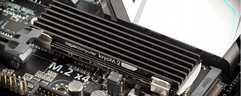Aqua Computers release their KryoM.2 Micro M.2 SSD cooler