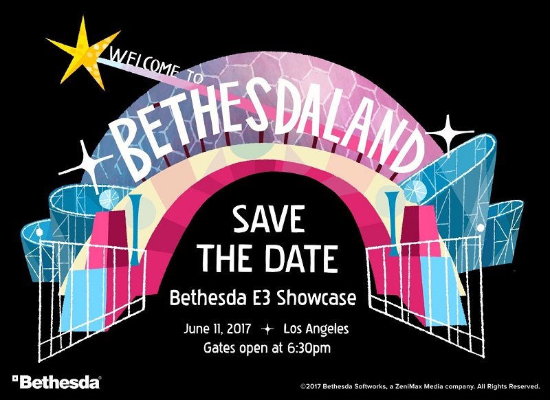 Bethesda's E3 Showcase will take place on June 11th