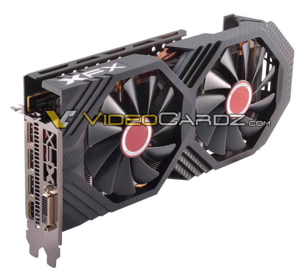 Two XFX RX 500 series GPUs have been pictured