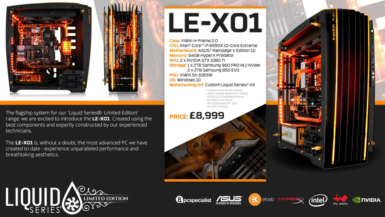 PC Specialist announce their first Liquid Series: Limited Edition systems