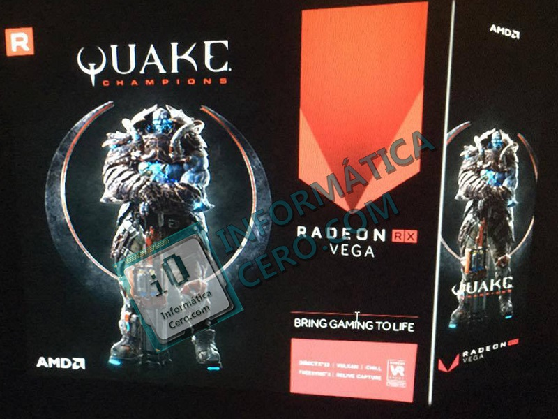 Quake Champions appears on Radeon RX Vega packaging