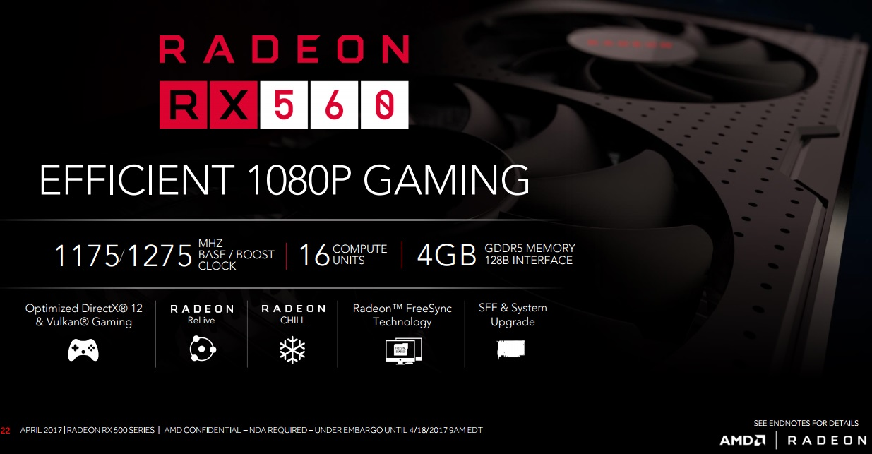 AMD officially launch their RX 560 GPU