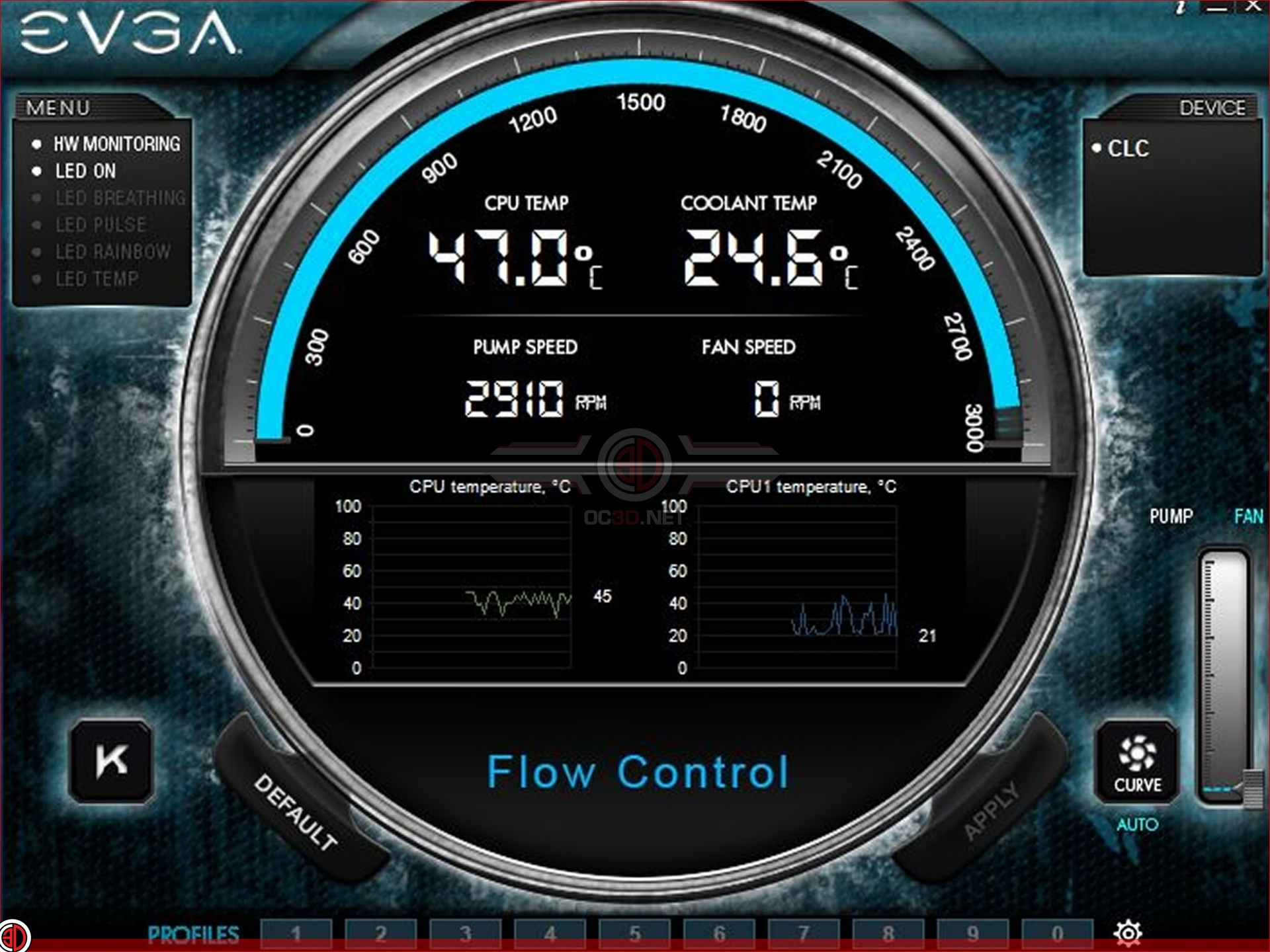 EVGA CL28 AIO Watercooling Review   Flow Control Software