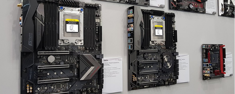 ASRock showcase their latest X399 TR4 Threadripper motherboards at Computex