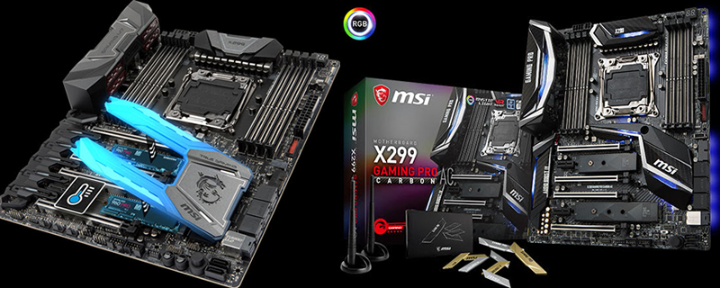 MSI showcase their X299 Gaming M7 ACK and Gaming Pro Carbon