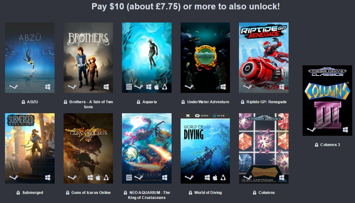 The Humble Oceans Day Bundle is now live