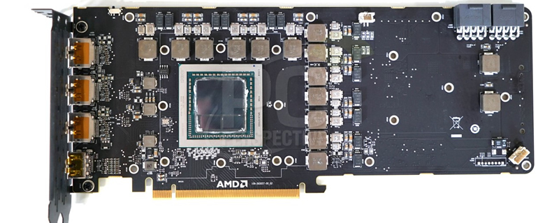 AMD Radeon Vega Frontier Edition PCB exposed