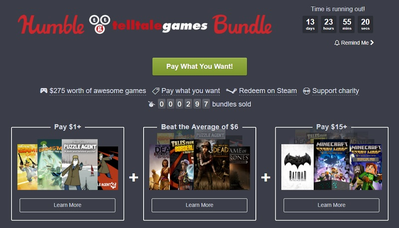 The Humble Telltale Bundle is now Live