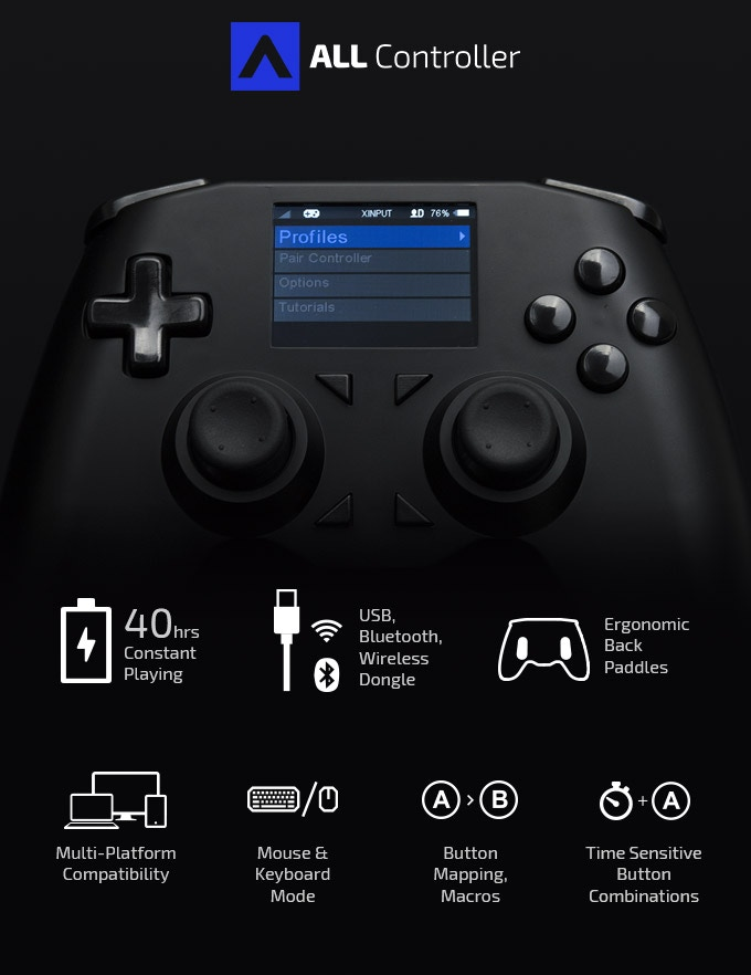 The ALL controller has hit Kickstarter - A controller that works on all platforms?