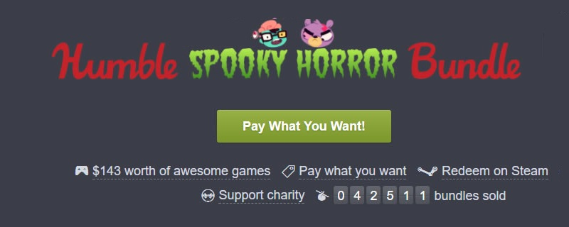 The Humble Spooky Horror Bundle is now avaialble