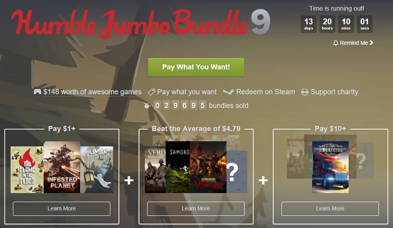 The Humble Jumbo Bundle 9 is now Live
