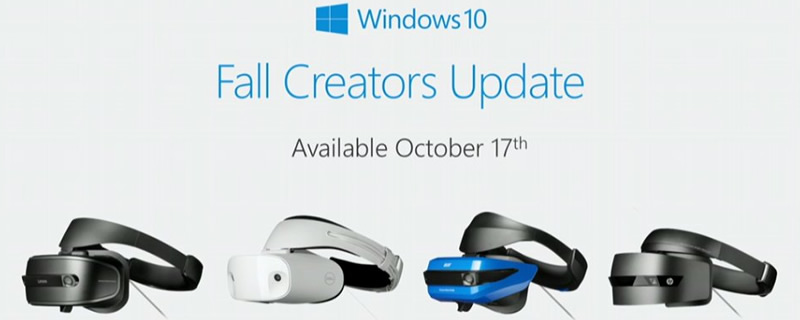 Windows Mixed Reality Headsets will release with the Fall Creators Update