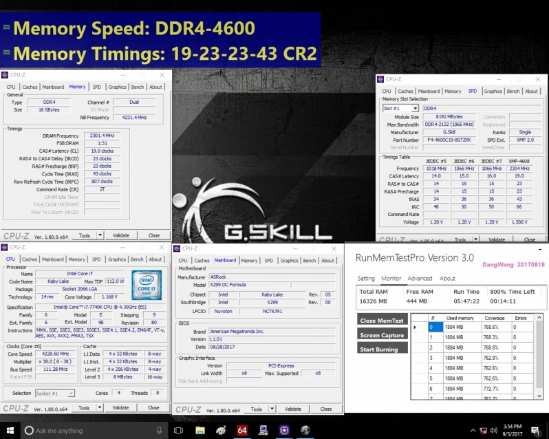 G.Skill announces DDR4 4600MHz memory for X299 motherboards