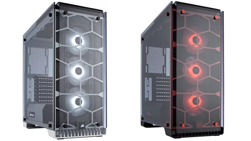 Corsair has released White and Red versions of their Crystal series 570X RGB chassis