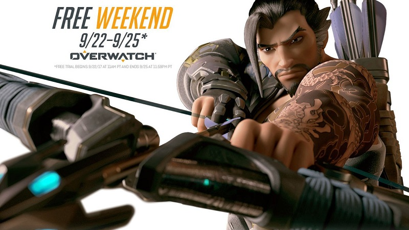 Blizzard will be hosting a Overwatch free weekend from September 22-25