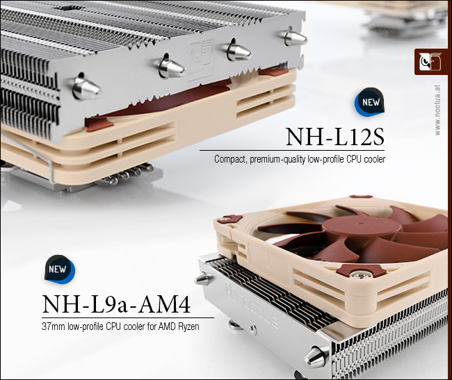 Noctua released two new AM4-compatible low-profile CPU coolers