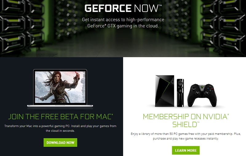 Nvdiia Geforce Now has a free Mac beta in Europe
