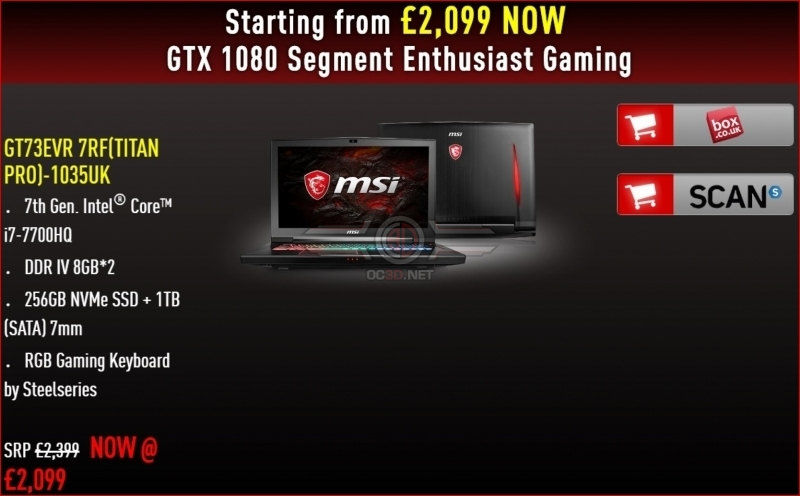 MSI delivers a range of Black Friday gaming notebook deals