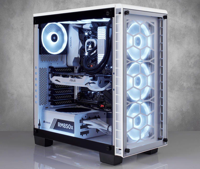 Cosair releases a White version of their 460X RGB chassis